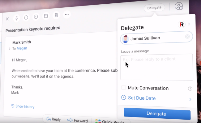 Email app Spark adds delegation feature for teams