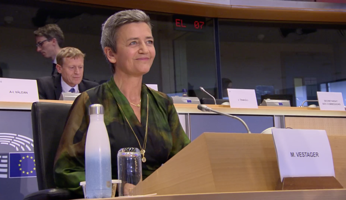 Europe's recharged antitrust chief makes her five-year pitch to be digital EVP