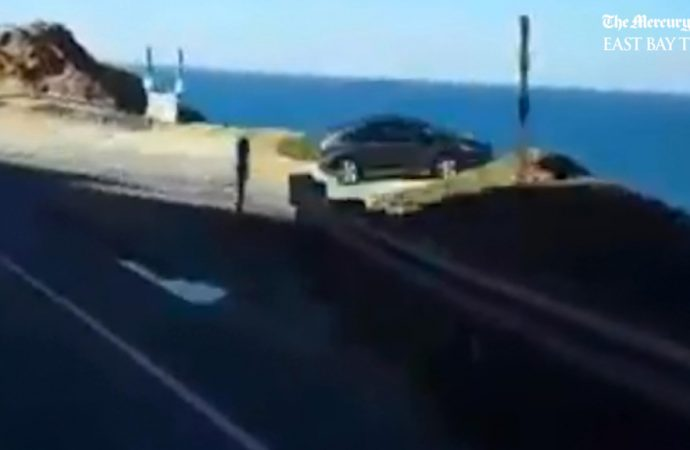 San Mateo County cliff crash video mystery: Real or deepfake?
