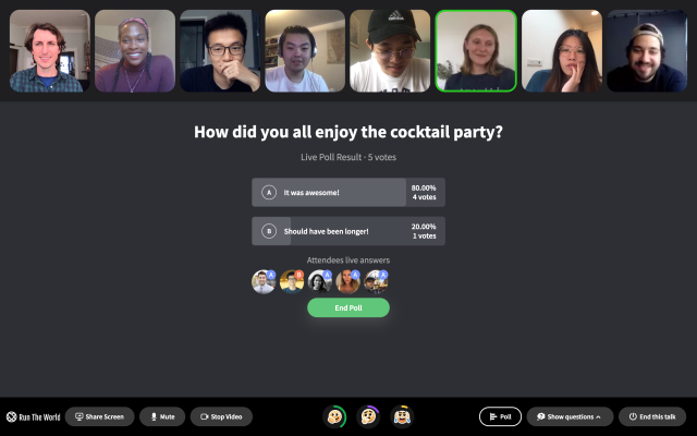 Virtual events startup Run The World just nabbed $10.8 million from a16z and Founders Fund